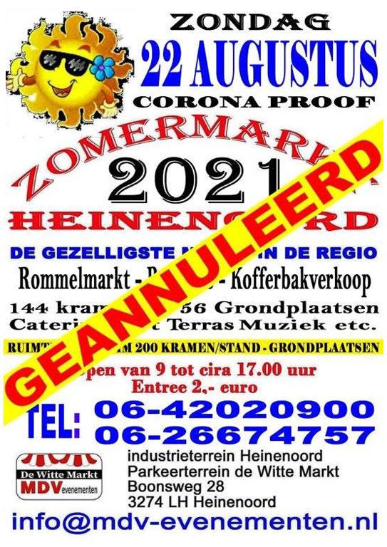 Poster Zomermarkt afgelast